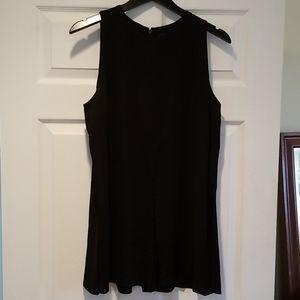 COS sz 12 sleeveless black tunic blouse